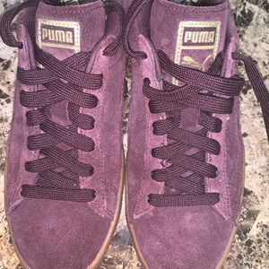 Purple Puma Suede Shoes